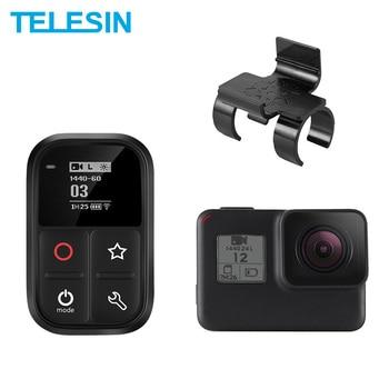 цена на TELESIN 80M Wifi Remote Control Waterproof Self-luminous OLED Set Shortcut Key + Lock Mount For GoPro Hero 8 7 6 5 4 Session