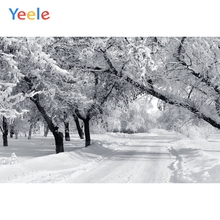 Yeele Winter Snow Tree Forest Natural Photography Backgrounds Custom Vinyl Photocall Photographic Backdrop For Photo Studio недорого