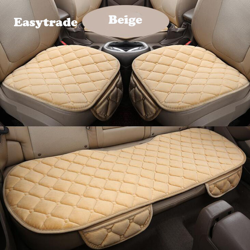 3Pcs Winter Seat Cover Cushion Front Back Seat Protector Mats For Volkswagen VW Tiguan MK2 Accessories 2017 2018 2019 Universal image