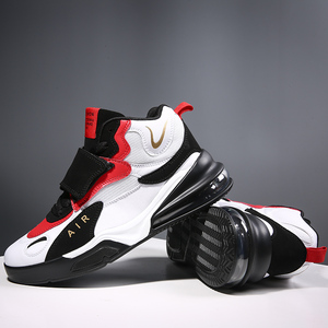 Image 1 - Men Women Cushioning Basketball Shoes Max Size 45 Basketball Sneakers Anti skid High top Shoes Male Suede Basketball Boots 2019