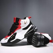 Zapatillas de baloncesto acolchadas para hombre y mujer, talla máxima 45, zapatillas de baloncesto antideslizantes, Zapatillas altas de ante para hombre, botas de baloncesto 2019