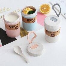 Fiambrera de sellado hermético para niños, caja de sellado hermético para sopa de 300ml, recipiente redondo ecológico para comida, fiambrera lavable en microondas