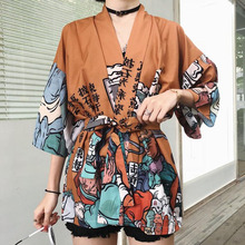 Japanese Short Robe For Women&man Loose Kimomo Japanese Cardigan Kimono Japones Haori 2021 Traditional Japanese Kimono Yukata