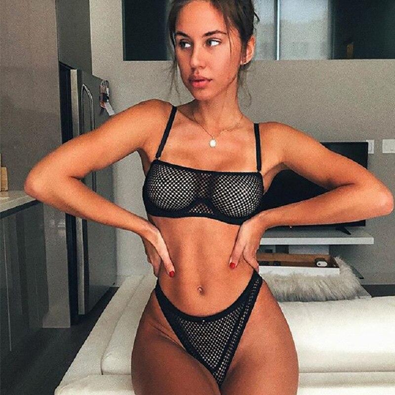 Mesh Lingerie Sexy Underwear Women See Through Bra Party Set Underwear Set Transparent Lingeries Bra Sets New Wholesale