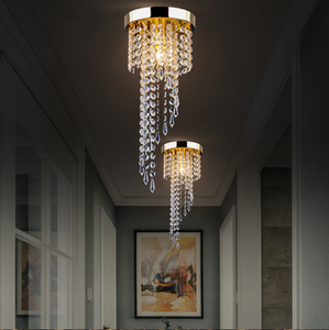 Image 3 - Modern LED Crystal Chandeliers E27 Bulb Led Lamps Living Room Ceiling Chandelier Indoor Lighting Led Lustre Lamp Ceiling Fixture