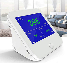 Portable CO2 Meter Air Quality Monitor HCHO TVOC Gas Detector Real Time Analyzer Monitoring LCD USB Charge CO2 Sensor Monitor multifunction co2 meter carbon dioxide analyzer portable detector gas co2 detector tester air quality monitor analyzer