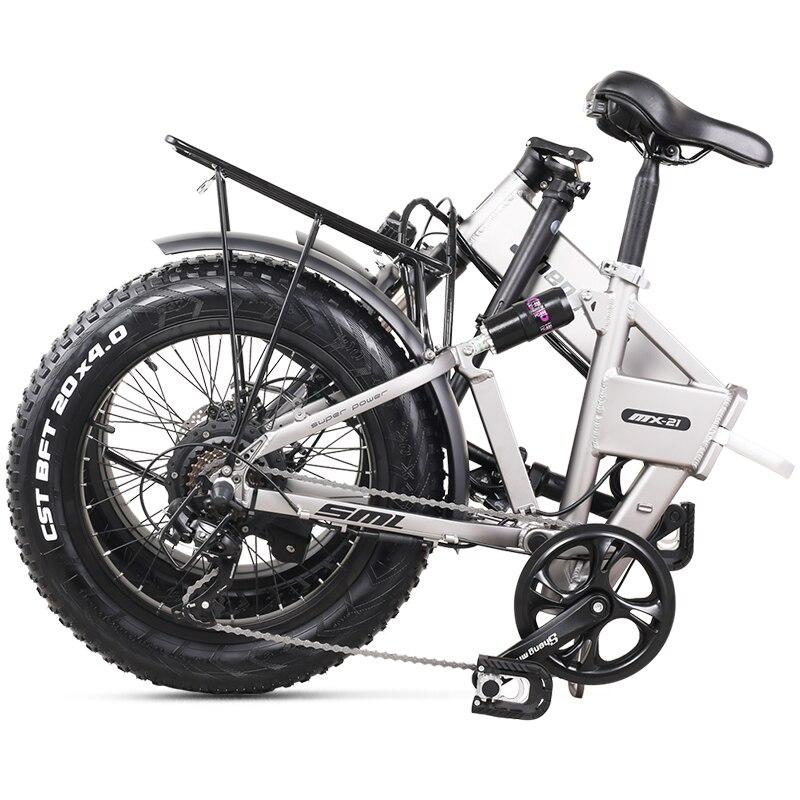 Electric Bike 500W City Bike Folding  Electric Bicycle Electric Mountain Bike 20 inch 4.0 Fat Tire ebike  48V Lithium Battery 5