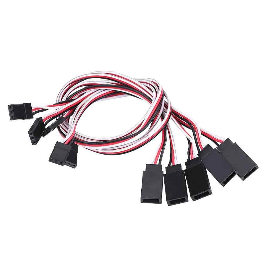 5/10 sztuk FPV kabel przedłużający Servo drut ołowiu 300mm przewód RC akcesoria dla JR/FUTABA podwójne podłączenie zasilania RC Drone serwo