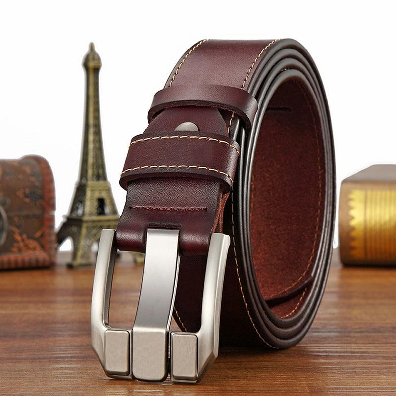men Genuine leather waistband belts men belts strap Pin Buckle Belts Leather