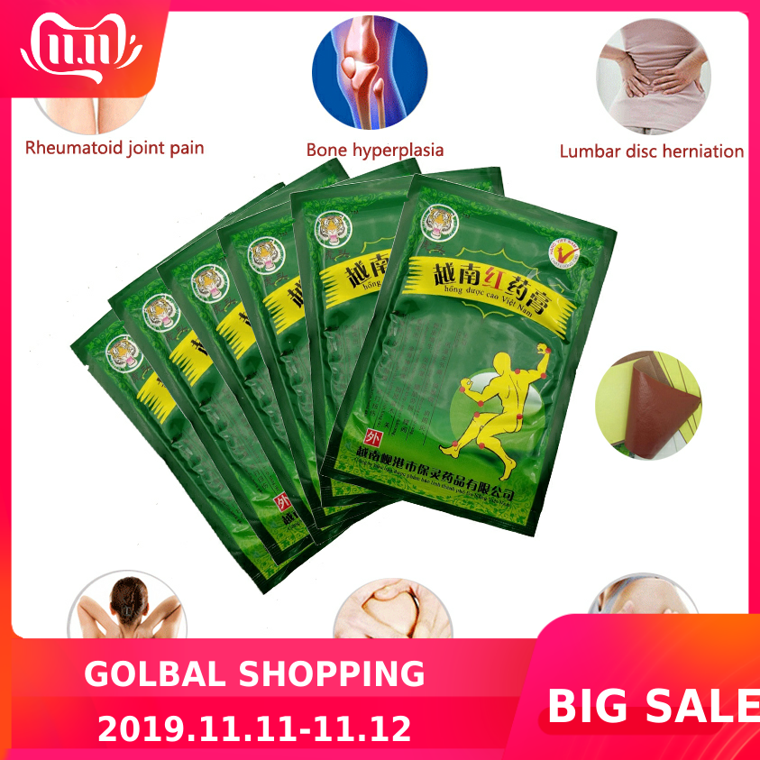 48Pcs/6Bags Vietnam Red Tiger Balm Treatment Plaster Shoulder Muscle Joint Pain Stiff Patch Relief Health Care C077