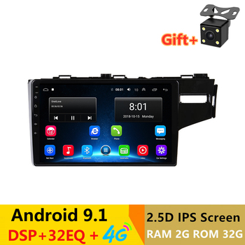 """9""""  Android 9.1 Car DVD Video Player GPS For RHD Honda Fit 2014 2015 2016 right hand drive radio audio stereo bluetooth wifi"""