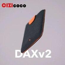 New DAX V1 Mini Card Holder Slim Portable Paper Pulled Design Men Wallet Color Slope 5 Cards Short Money women Purse
