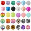 20 штук розовое цвета: золотистый, серебристый 4D большой круглой образные шарики из фольги Baby Shower одежда для свадьбы, дня рождения украшения ...