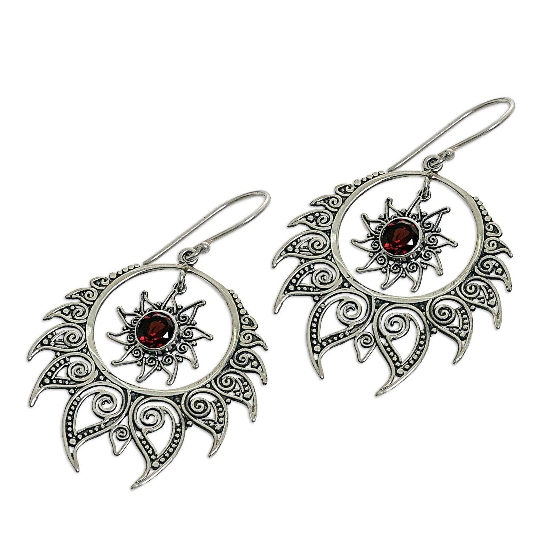 Solid s925 Silver Garnet Earring Exaggerated Brincos Bizuteria Gemstone Mujer Oreja 100% 925 Jewelry Topaz Drop Earring JEWELRY