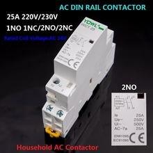 Модульный контактор переменного тока yqwl 2p 25a 220 В/230 В