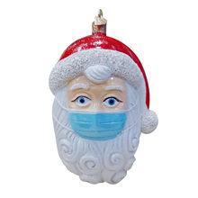 2020 карантин, Рождественское украшение, персонализированные подвесные кулоны для семьи «сделай сам», Санта-Клаус с маской, украшения для рож...