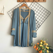 Pajamas Set Summer Designer Womens Casual Viscose Lace Sexy Robe & Gown Set Ladies Faux Silk Soft Pajamas Suit Female Two Piece