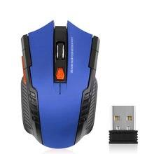6 кнопок 1600dpi игровая мышь эргономичная оптическая 24g беспроводная