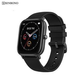 SENBONO IP67 Full screen touch P8 Smart Watch Wristband Men Women Sport Clock Heart Rate Monitor Sleep Monitor Smartwatch 1