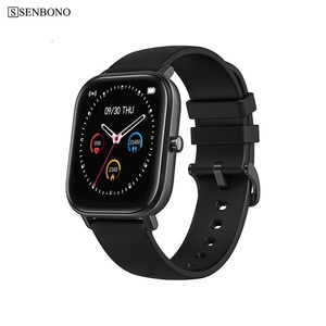 Image 4 - Senbono IP67 Full Screen Touch Smart Horloge Mannen Vrouwen Sport Klok Hartslagmeter Smartwatch Fitness Tracker Polsband