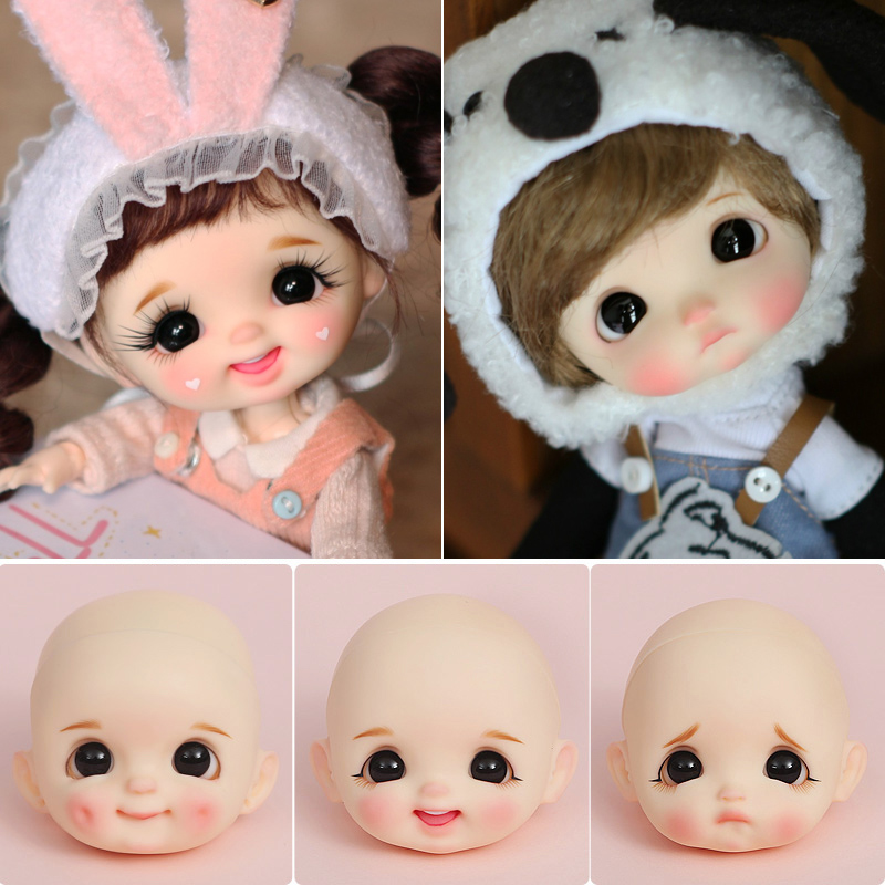 STO doll head OB11 bjd doll head custom 1/8bjd obitsu11 DIY Makeup doll head 11CM Doll YMY body doll accessories