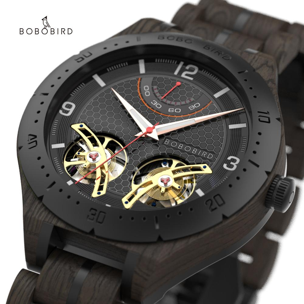 elojes para hombre BOBO BIRD Wood Automatic Watches for Men Top Brand Luxury Wristwatches orologi uomo automatico Drop Shipping