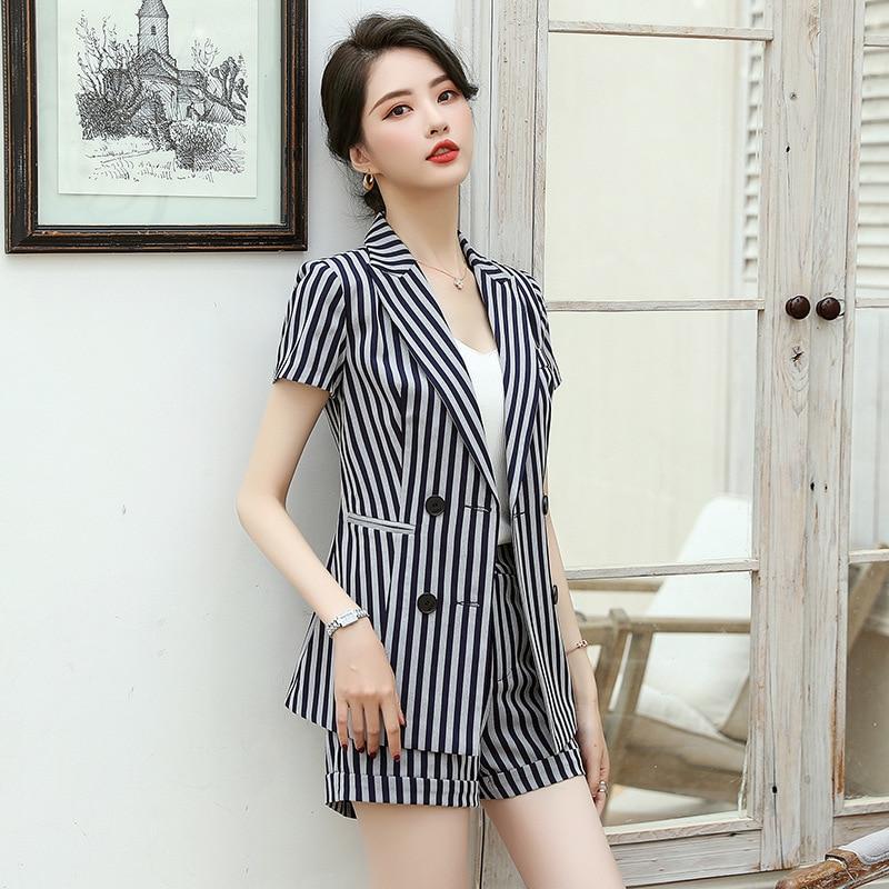 New Office Work Formal Long / Short Pant Suit Women's Business Lady OL Uniform 2 Piece Set Blazer Trouser Jacket Suits Plus Size
