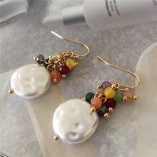Boucles d'oreilles en imitation de perles pour femmes, longues pampilles, cadeau, Bijoux coréens, couleur or