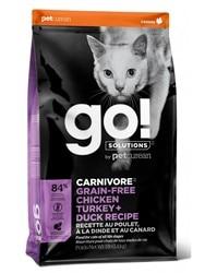 GO!CARNIVORE Grain Free 4 вида мяса для котят и кошек с чувствительным пищеварением, Мясное ассорти, 1,4 кг.