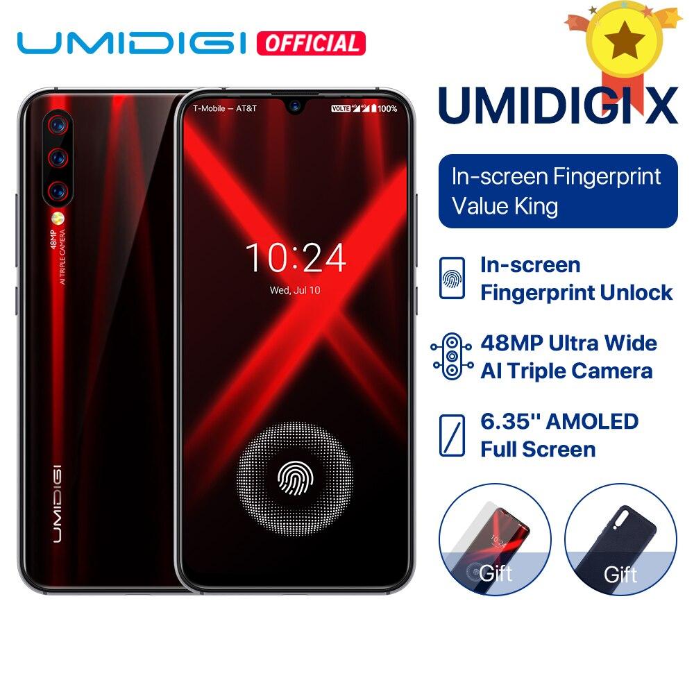 UMIDIGI X en-pantalla huella mundial versión 6,35