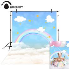 Allenjoy фотофоны Радужные облака голубое небо звезды дети ребенок душ новорожденный день рождения Фотостудия фоны