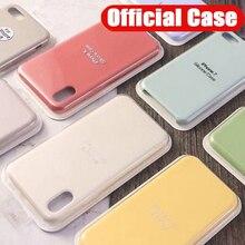 Case for Iphone 7 Original with Logo Liquid Silicone Cases f