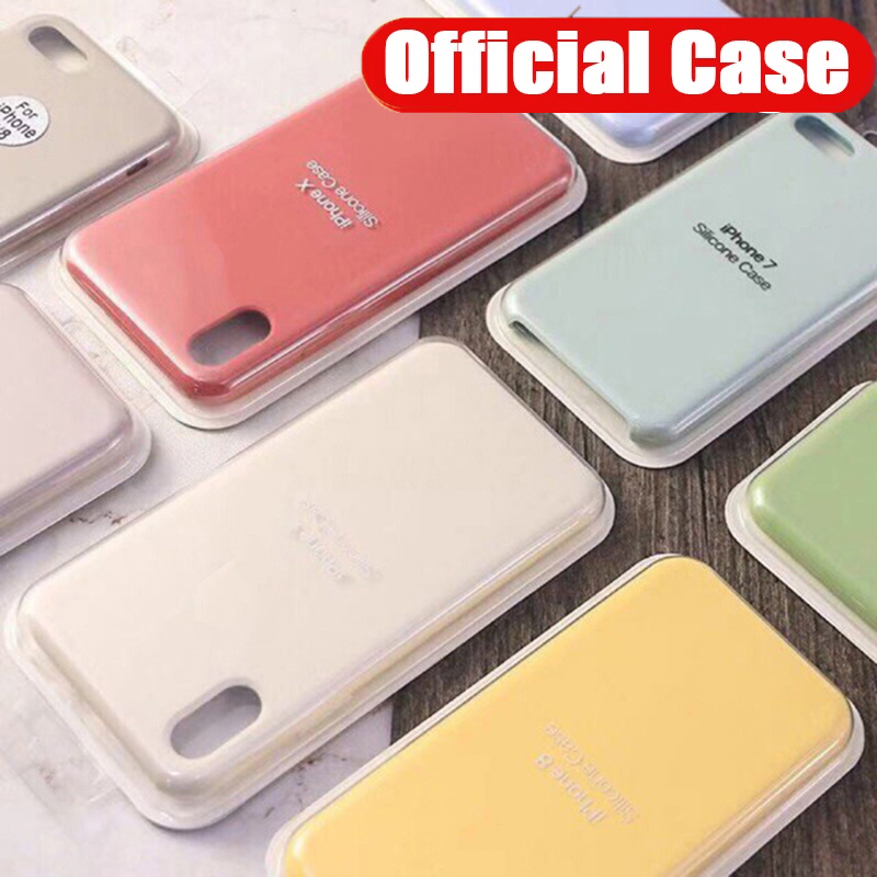 <font><b>Case</b></font> for <font><b>Iphone</b></font> 7 Original with <font><b>Logo</b></font> Liquid <font><b>Silicone</b></font> <font><b>Cases</b></font> for Apple X Xs XR 11 Pro Max <font><b>6S</b></font> 8 7 Plus 6 S 11pro Back Cover Shell image