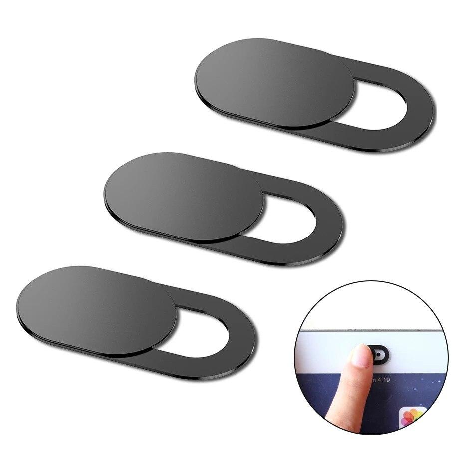 Webcam capa ímã do obturador slider plástico para iphone portátil câmera web pc tablet smartphone universal privacidade adesivo