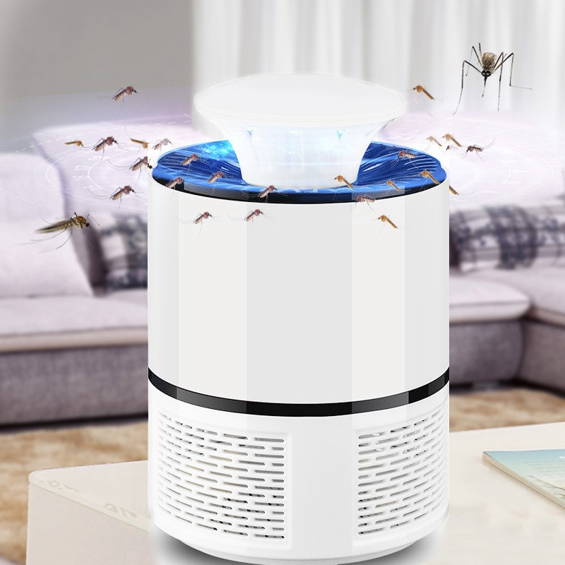 2018 New Smart LED UV Electric Mosquito Killer Lamp USB Charge Noiseless White