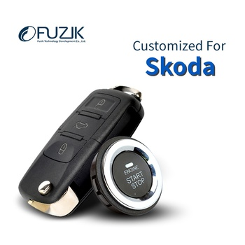 Fuzik Keyless Go Smart Key Keyless Entry Remote start Push Botton for skoda fabia rapid spaceback octavia yeti superb