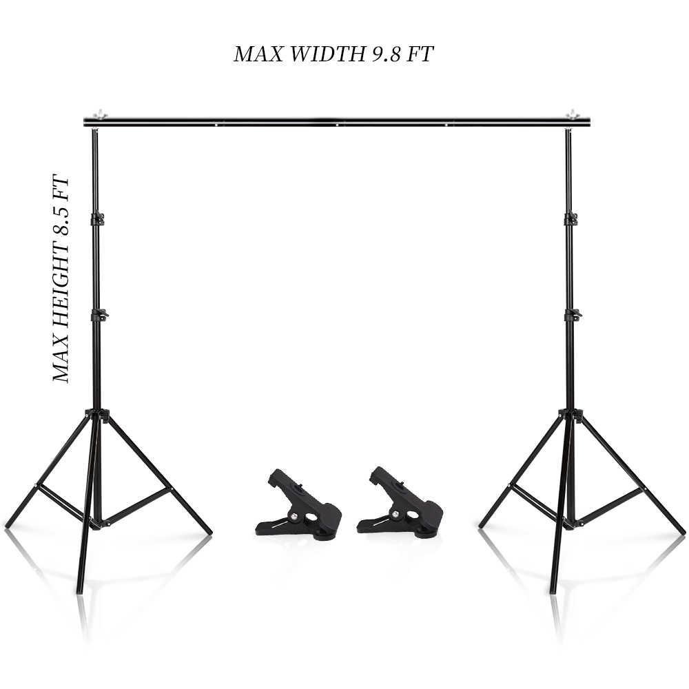 Foto Video Studio 9,8 ft Einstellbare Hintergrund Stand Hintergrund Support System Kit mit Tragen Tasche