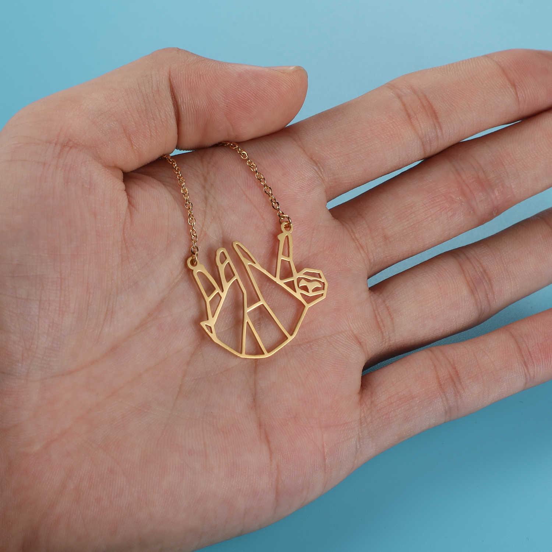 Unikalne zwierząt lenistwo naszyjnik LaVixMia włochy projekt 100% naszyjniki ze stali nierdzewnej dla kobiet Super moda biżuteria specjalny prezent