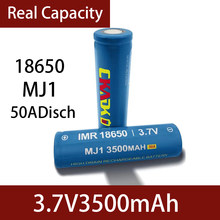 Ckadk 100% original mj1 3.7 v 3500 mah 18650 bateria recarregável de lítio para baterias de lanterna mj1 3500 mah bateria