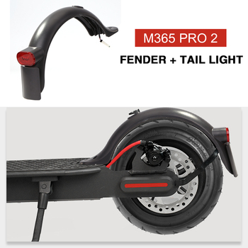 Durable Scooter Mudguard for Xiaomi Mijia M365 M187 Pro Electric Scooter Tire Splash Fender with Rear Taillight Back Guard Wing image
