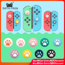4pcs Cat Paw Anti-Slip Silicone Thumb Stick Grips Caps Case For Nintend Switch/Lite Joy-Con Controller Analog Joystick Cover