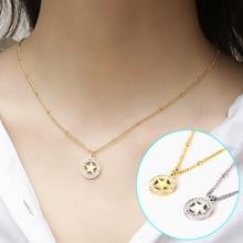 Ladies Stainless Steel Pendant Necklace Little Venus Women Wedding Fashion Zircon Jewelry