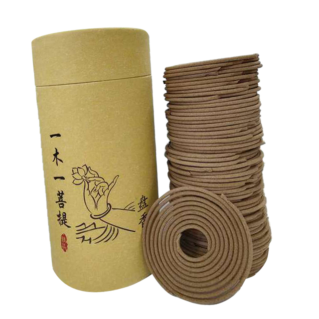 Natural Sandalwood Incense Home Fragrance Spiral Coil Incense Air Refreshing