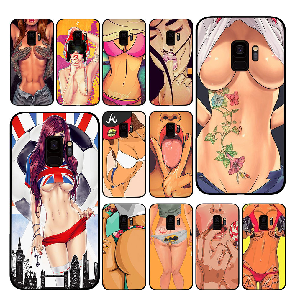 <font><b>Sexy</b></font> Hot lady cartoon <font><b>girl</b></font> Phone Case for Samsung Galaxy A6 A8 Plus A7 A9 2018 A5 2017 <font><b>18</b></font> J530 J7 J8 image