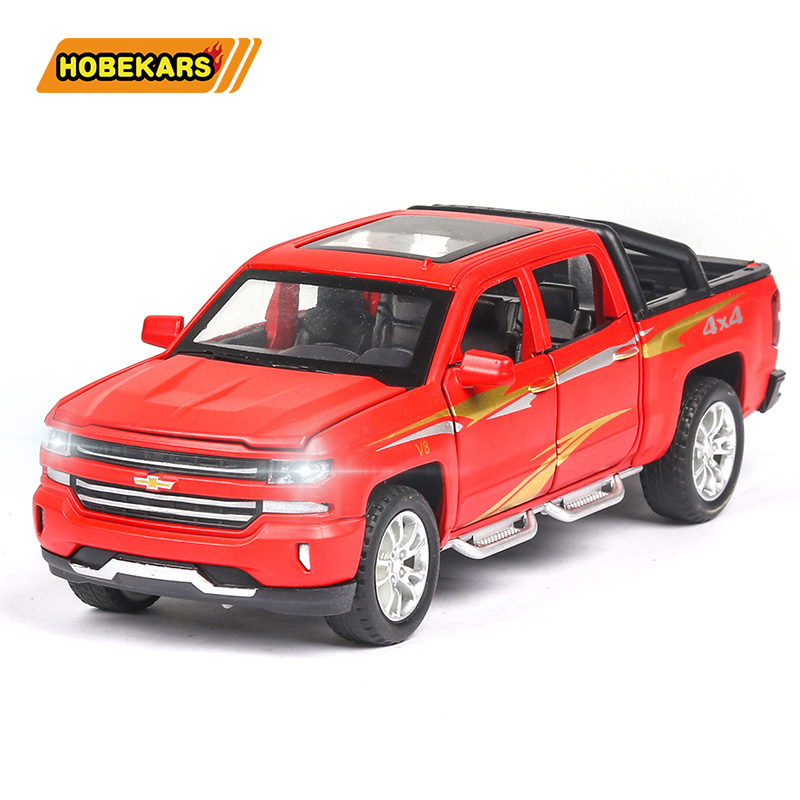 Diecast Model Car Chevrolet Solander Truck 1:32 Simulation Metal Alloy Cars Pull Back Toys Collection Gifts For Kids Children