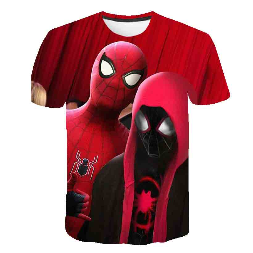 fashion Spiderman Boys T Shirt Kids Tshirt Super Hero T-Shirts for Girls Child T-Shirts Children Clothing Tee Shirt camiseta image