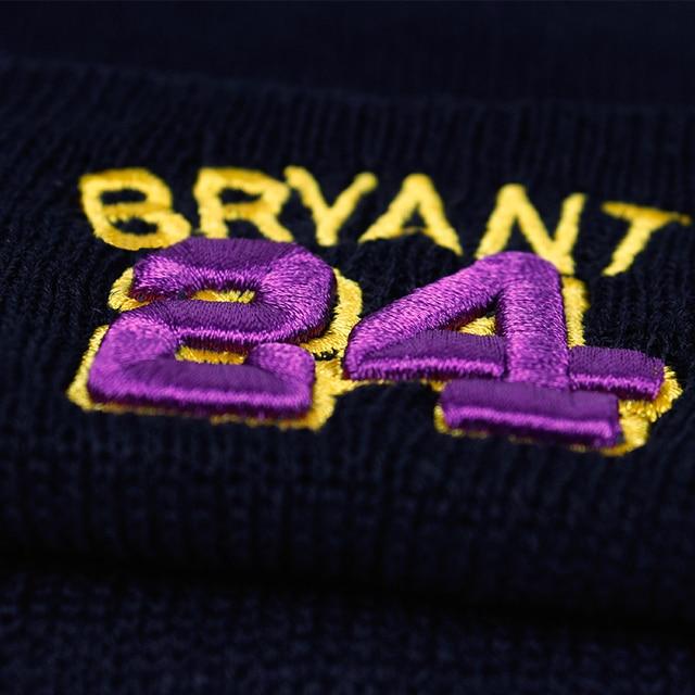 BRYANT Beanie 24 Cotone 3D Ricamo Cappello di Inverno Mamba Lavorato A Maglia kobe bryant Cappello Skullies Berretti Cappello Hip Hop Maglia 8 kobe
