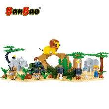 Banbao africano savammah leão rinoceronte elefante antelope avestruz uma fazenda 12 moc animais acessórios jardim zoológico tijolos brinquedos diy