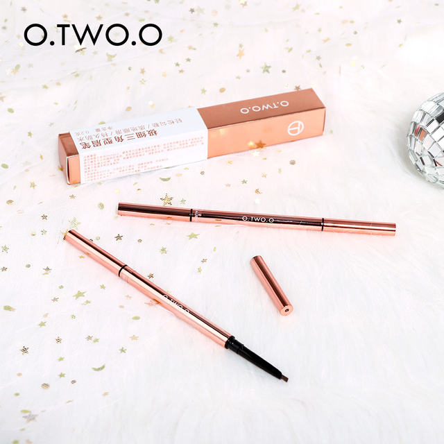 O.TWO.O Ultra Fine Triangle Eyebrow Pencil Precise Brow Definer Long Lasting Waterproof Blonde Brown Eye Brow Makeup 6 Colors 6