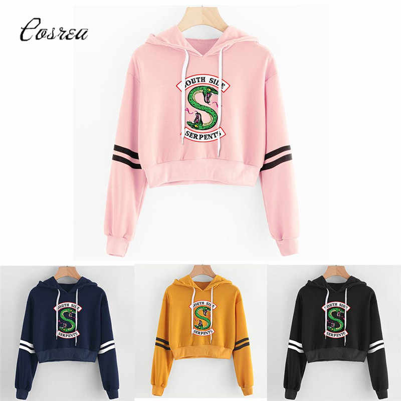 Riverdale Sweatshirt Roze Vrouwen Hoodies Sweatshirts Fashion Hooded Lange Mouwen Casual Kleding South Side Slangen Riverdale